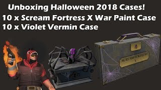 TF2 Unboxing: Violet Vermin + Scream Fortress X War Paint Case Halloween 2018