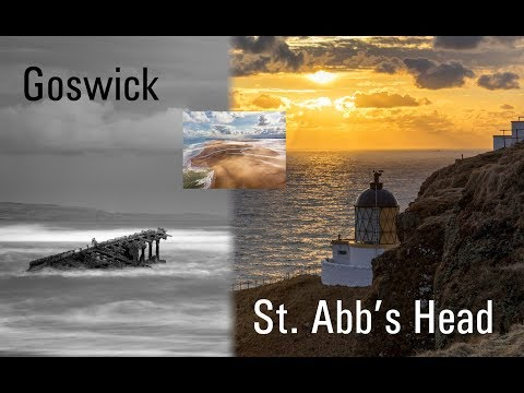 Photographing St Abbs Head and Goswick in Northumberland