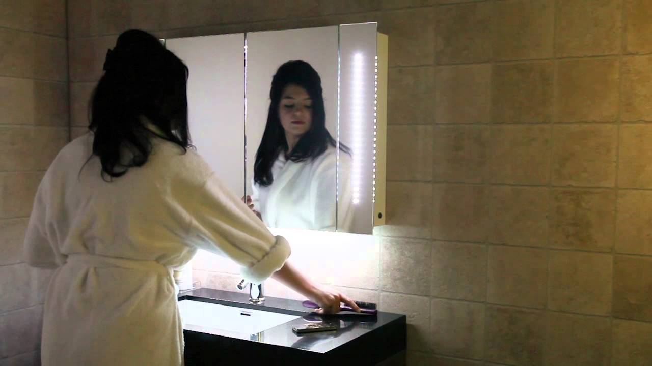 Bluetooth Bathroom Mirror Youtube audio bluetooth bathroom cabinets - youtube