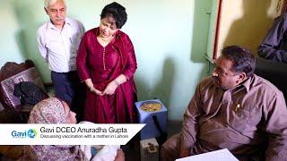 Anuradha Gupta at vaccination site in Lahore
