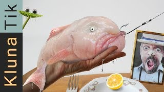 blobfish catch cook   44klunatik compilation asmr eating sounds no talk