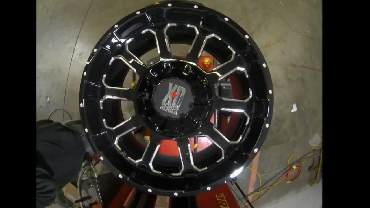 KMC XD Series 806 Bomb Black Machined - YouTube