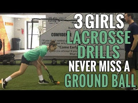Lacrosse Ground Ball Drills | Girls Lacrosse Drills