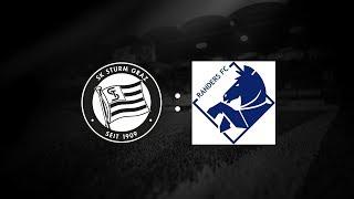 Spielaufzeichnung: Sturm Graz 2:3 Randers FC (1:2)