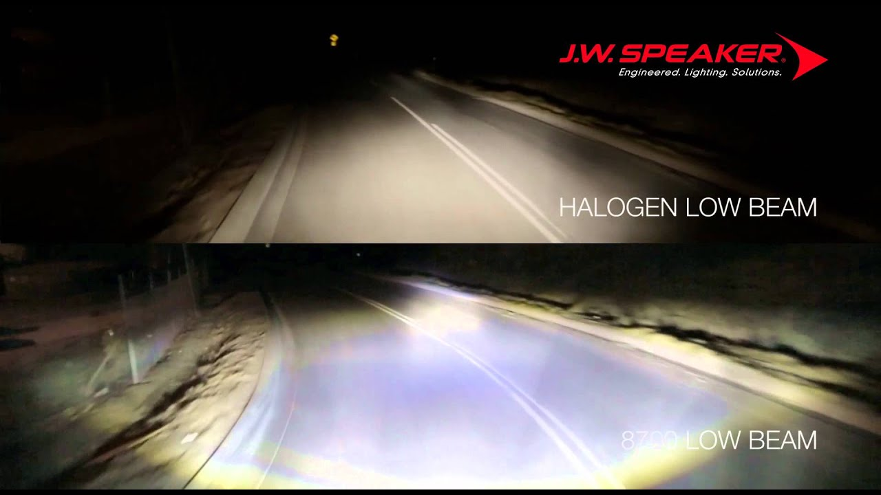 Halogen Vs Led Headlights Jw Speaker 8700 Series Youtube