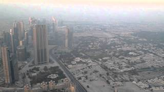 Looking down from the Burj al Khalifa