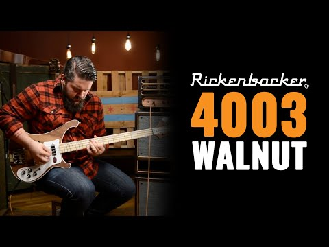 Rickenbacker 4003 Walnut Bass Guitar Demo with Dictator Cabs