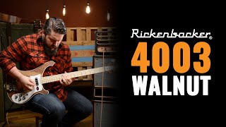 Rickenbacker 4003 Walnut Bass Guitar Demo with Dictator Cabs
