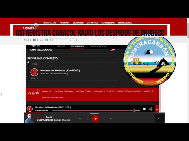 Estalla crisis social en Cesar y Magdalena por despidos de Prodeco - Nota Caracol Radio 22-02-2021