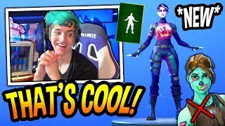 "NINJA REACTS TO *NEW* ""DENIED"" EMOTE/DANCE! (RIP GHOUL TROOPER!) Fortnite SAVAGE & FUNNY Moments"