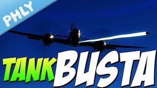 Tank Busta - Me-410 50mm Cas (War Thunder Plane Gameplay)