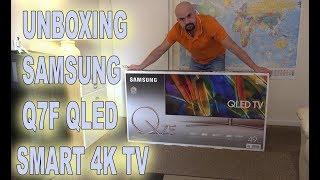 UNBOXING SAMSUNG Q7F QLED 4K TV