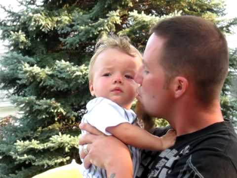 Cooper kissing daddy