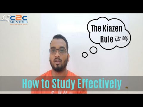 CAT 2019 How to study effectively - Kaizen Rule