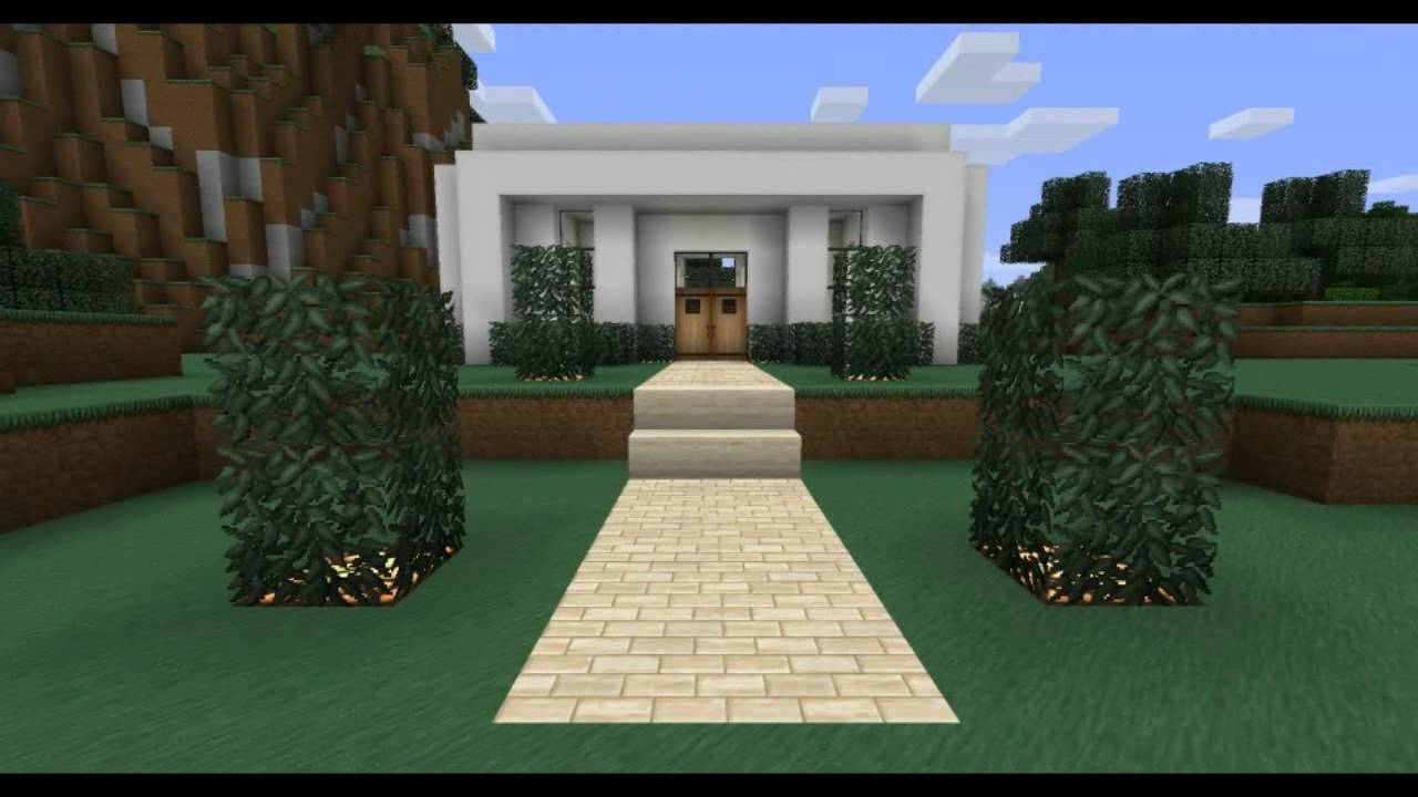 minecraft: modern house design - youtube