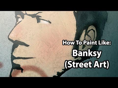 Digital Art - How To Paint Like: BANKSY (Stencil Street Art)