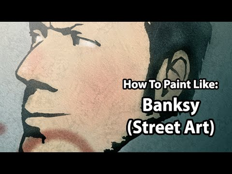 Digital Art - How To Paint Like: BANKSY (Stencil Street Art)