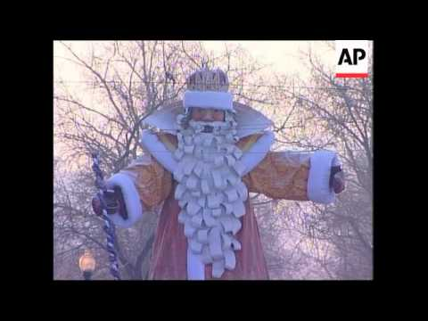 Cold weather dampens some celebrations; procession in Tbilisi