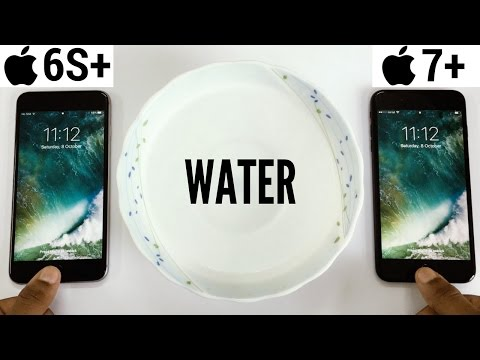 iPhone 7 Plus vs iPhone 6s Plus Home Buttons Water Test!