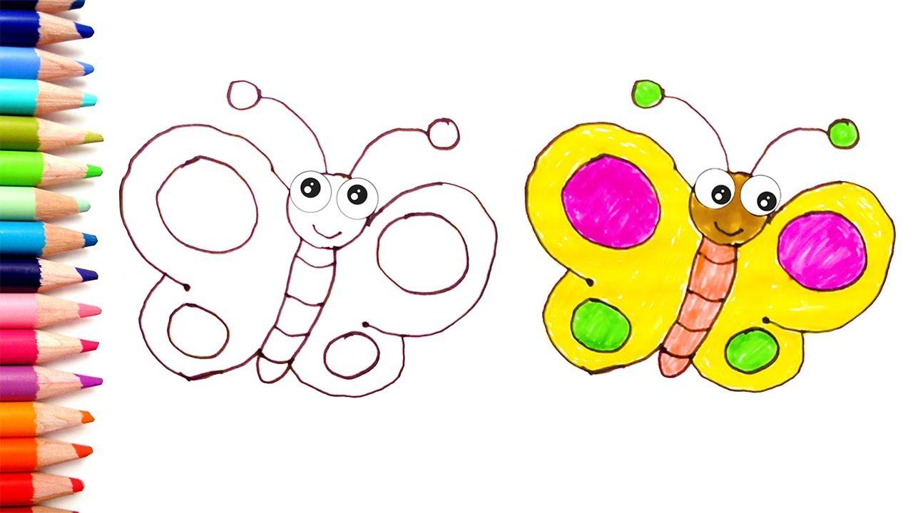 Renkleri Ogreniyorum L Cocuklar Icin Kelebek Boyama Oyunu L Cocuk