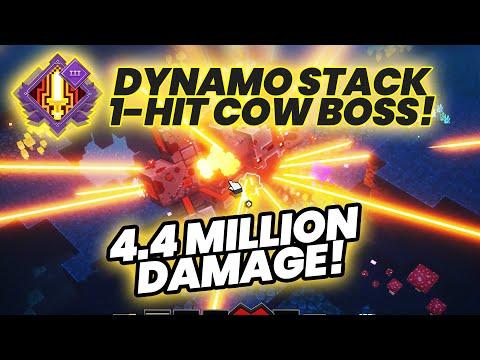 Dynamo ×1500 Stacks 4.5 Million Damage - 1-HIT Cow Boss Kill! | Minecraft Dungeons