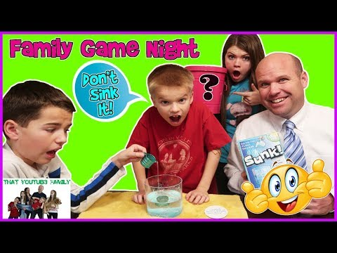 Sink The Cup and Eat A MYSTERY ITEM - Sunk! / That YouTub3 Family