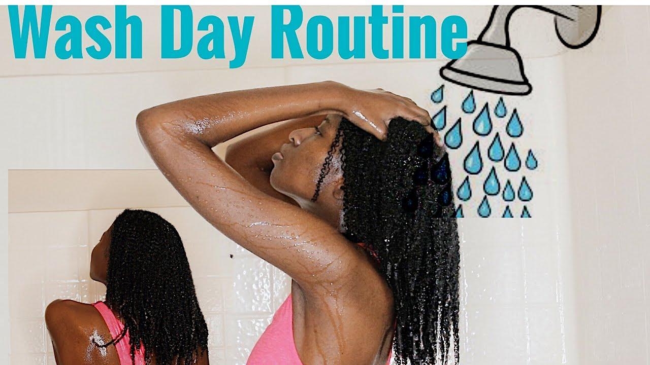 wash day routine start