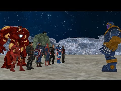 Thanos Vs Avengers, Part-1, ( Thanos Vs Ironman , Hulk , Captain America , Thor , Spiderman )