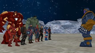 Thanos Avengers vs, Teil-1, ( Thanos vs Ironman , Hulk , Captain America , Thor , Spiderman )