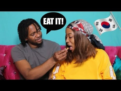 Boyfriend Tries South Korean Snacks With Me! | #TRYTREATS