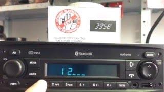 Como digitar código em rádios GM Agile S10 montana Entering code radios GM Agile S10