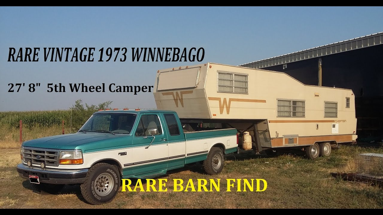 Winnebago Barn Find 1973 Winnebago 5th Wheel & Making a light kit to haul it
