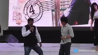 Shahrukh khan with bhojpuri star manoj tiwari