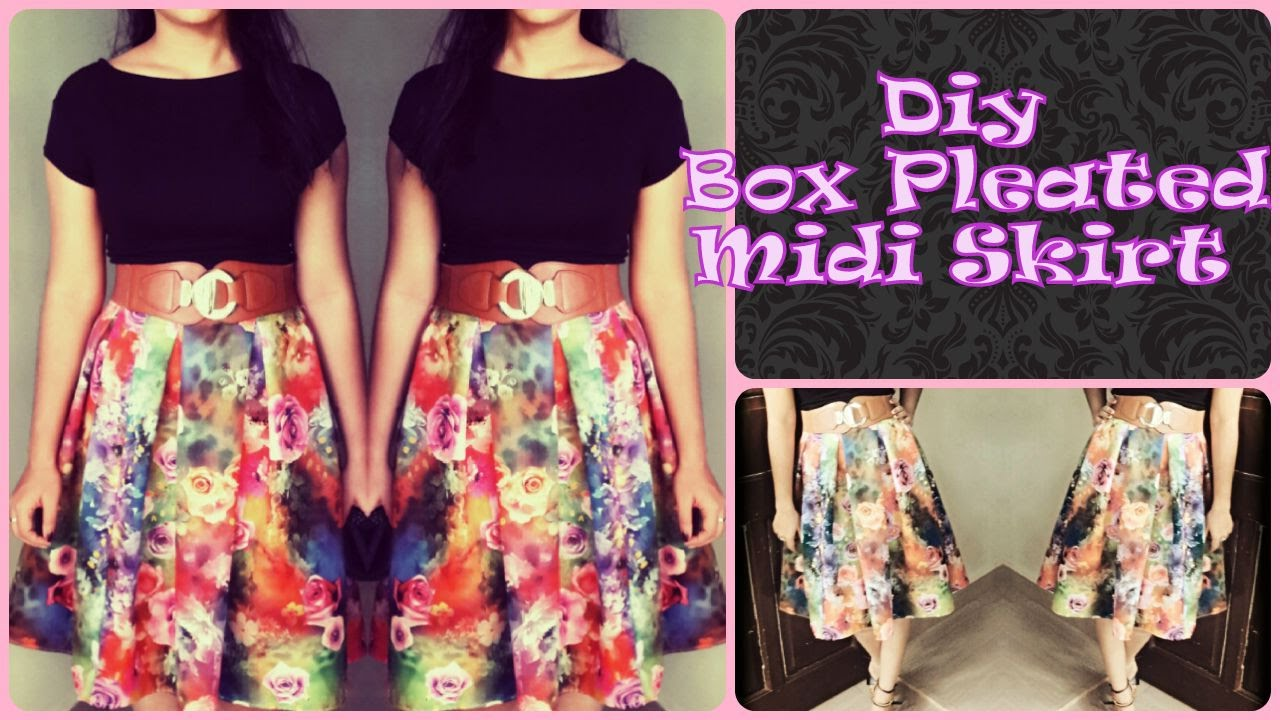 Diy Box Pleated skirt - YouTube