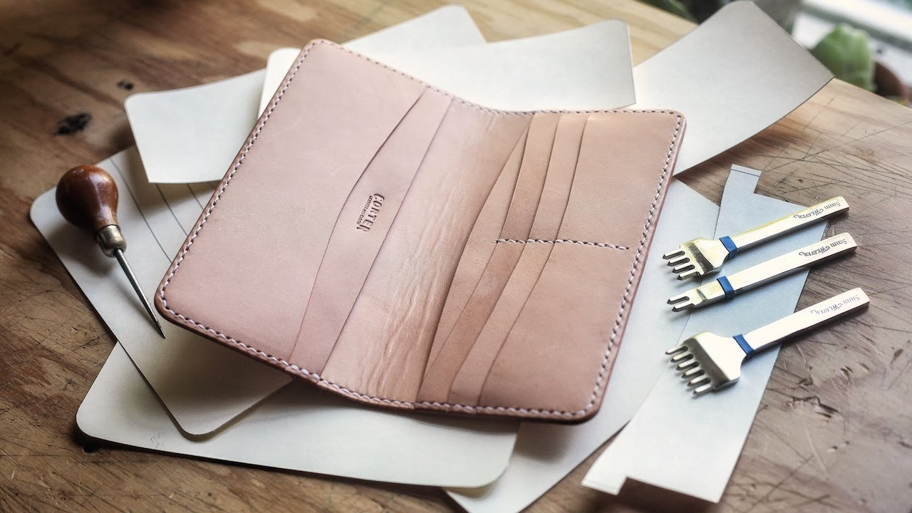 How to Make a Leather Long Wallet (w/ PATTERN!)