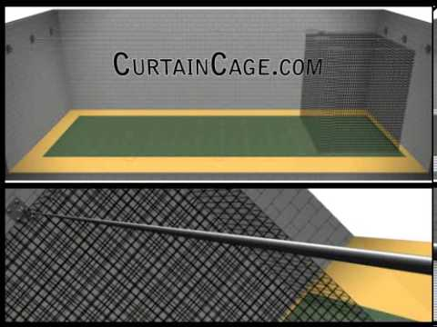 Indoor Batting Cage Kit (Sliding Batting Cages / CurtainCage Standard)