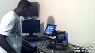 DJ Tek Performing a House/Bmore Set using Serato Scratch Live on the iPad