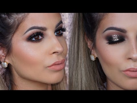 Glitter Smokey Eyes Makeup Tutorial 2018