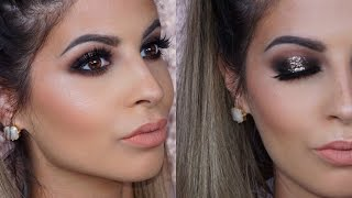 glitter smokey eyes makeup tutorial 2016