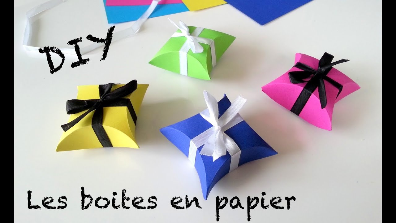 Diy cr ation boites cadeaux en papier saint valentin - Creation facile a faire ...