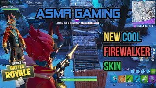 ASMR Gaming | Fortnite New Cool Firewalker Skin 1st Solo Games 🎮Controller Sounds + Whispering😴💤