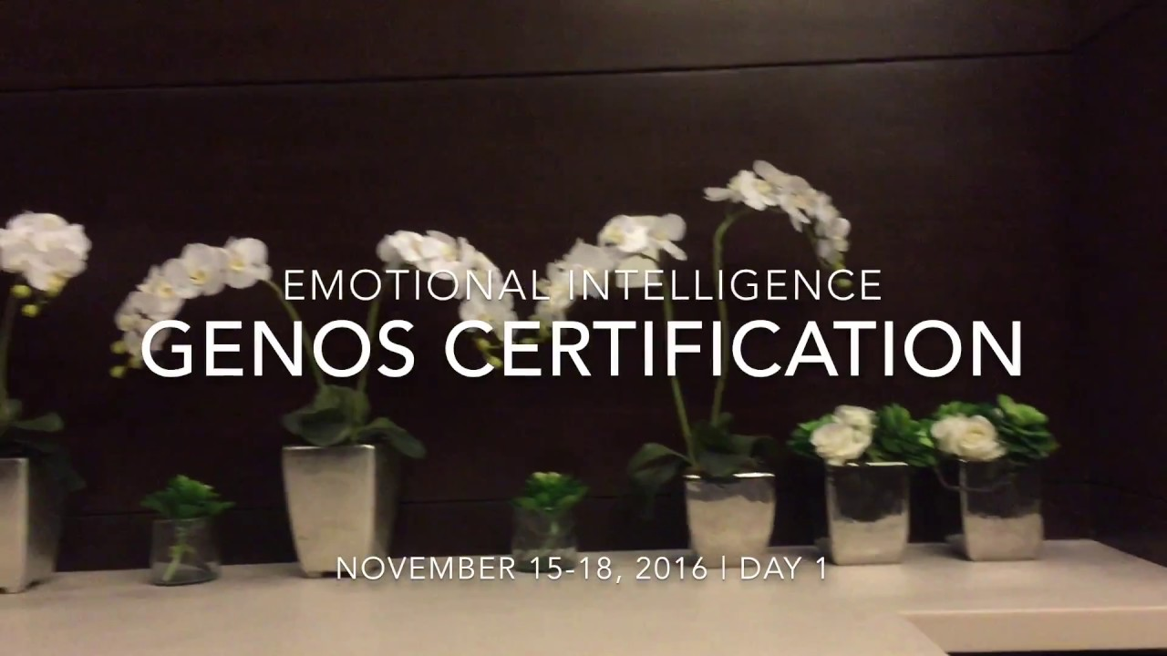 Genos Emotional Intelligence Certification Day 1 - YouTube