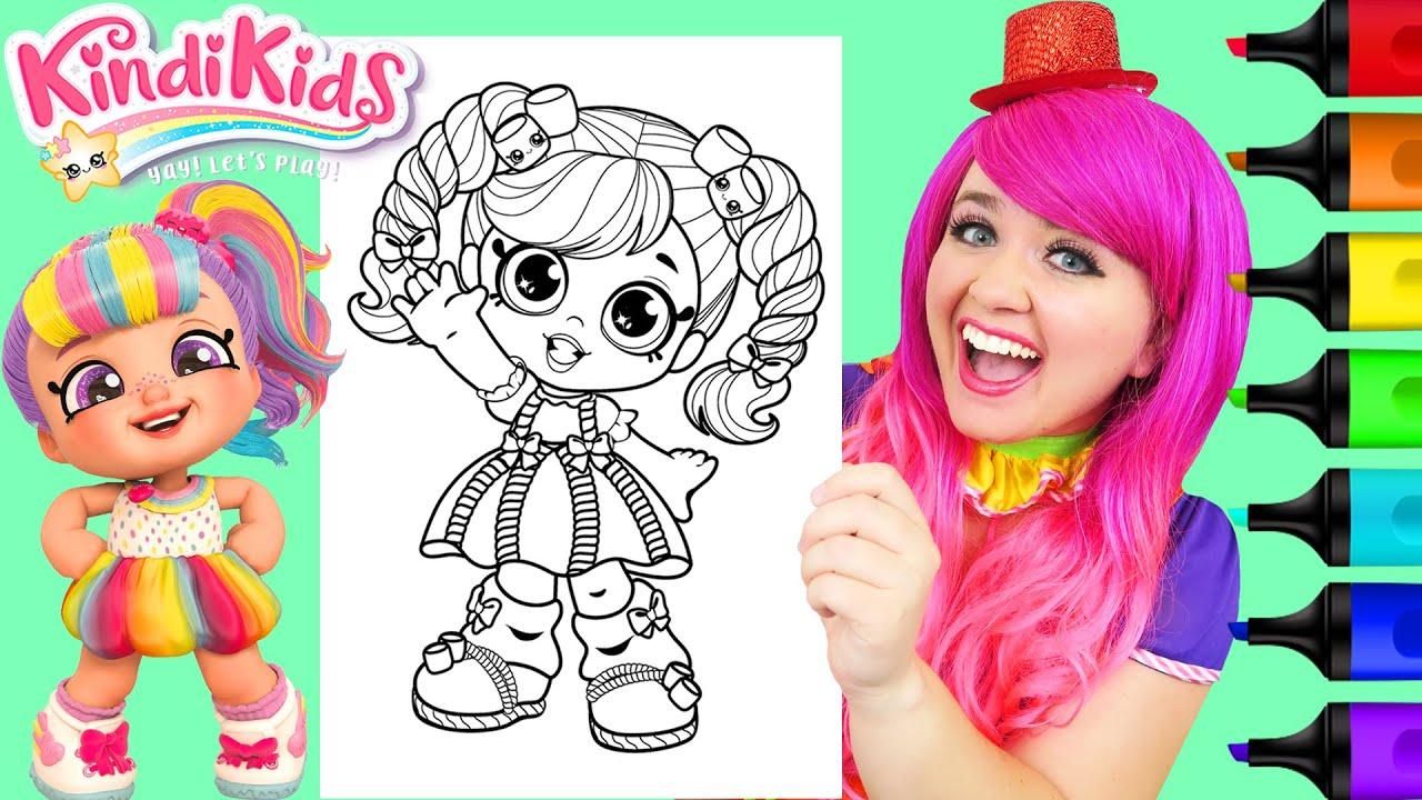 Coloring Kindi Kids Marsha Mello | Markers