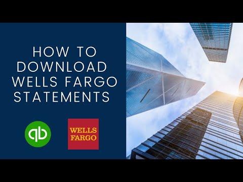 How To Download Wells Fargo Bank Statements To Quickbooks Online