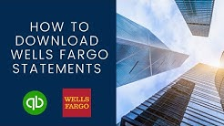How to download Wells Fargo Bank Statements to Quickbooks Online