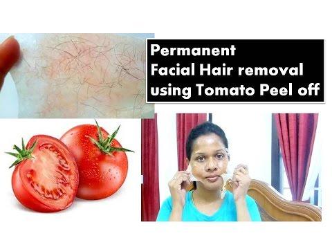 Permanent Facial Hair removal using TOMATO Peel off mask   Starnaturalbeauties