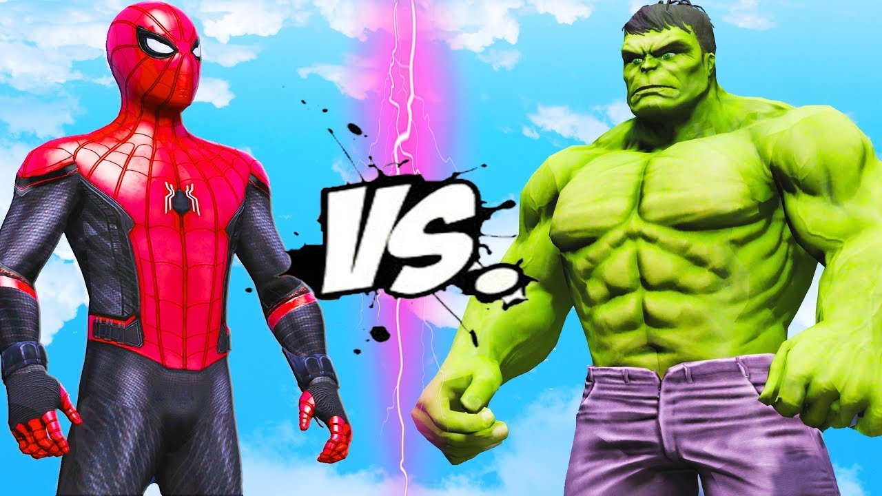 THE HULK VS SPIDER-MAN - FAR FROM HOME - YouTube