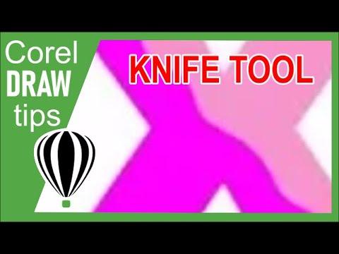 knife tool in CorelDraw