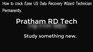 How to crack Ease US data recovery technician wizard.