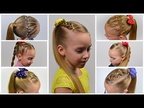 7-easy-everyday-hairstyles-★-pigtails-&-elastics-(easy-little-girl-hairstyles-#24)-#lgh